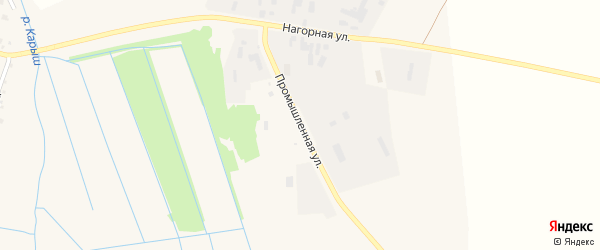 Промышленная улица на карте села Старобалтачево с номерами домов
