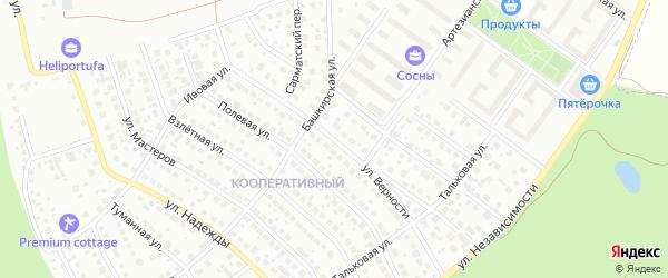 Улица Верности на карте Уфы с номерами домов