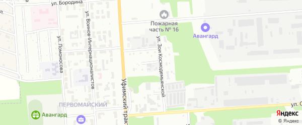 Переулок Осипенко на карте Стерлитамака с номерами домов