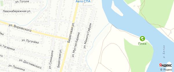 Улица М.Гафури на карте Мелеуза с номерами домов