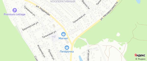 Переулок Надежды на карте Уфы с номерами домов