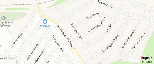 Жемчужная улица на карте села Чесноковки с номерами домов