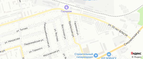 Уральская улица на карте Мелеуза с номерами домов