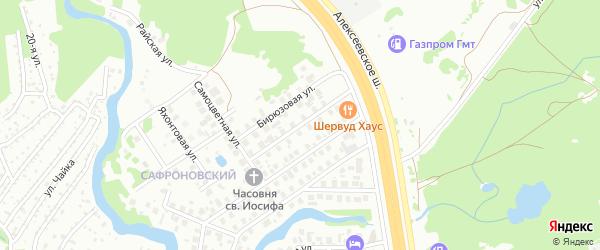 Образцовая улица на карте Уфы с номерами домов