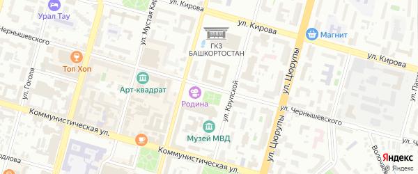 Улица Чернышевского на карте Уфы с номерами домов