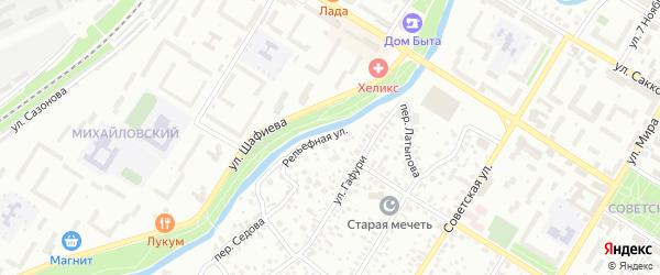 Рельефная улица на карте Стерлитамака с номерами домов
