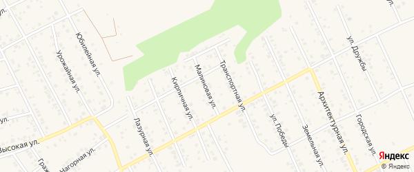Малиновая улица на карте Благовещенска с номерами домов