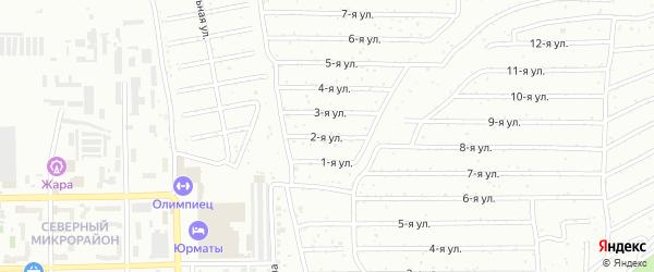 Вторая улица на карте Салавата с номерами домов