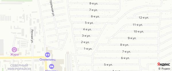 Третья улица на карте Салавата с номерами домов