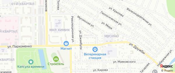 Улица Покрышкина на карте Салавата с номерами домов