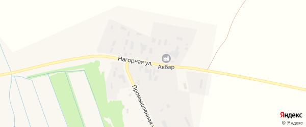 Нагорная улица на карте села Старобалтачево с номерами домов