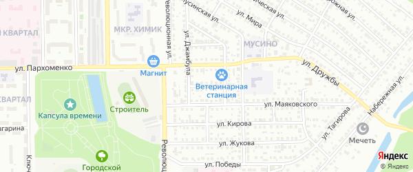 Улица Кожедуба на карте Салавата с номерами домов