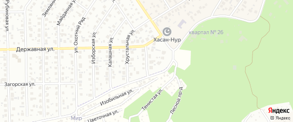 Малахитовая улица на карте Уфы с номерами домов