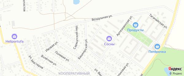 Улица Фатыха Иксанова на карте Ленинского района с номерами домов