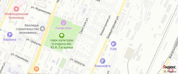 Элеваторный 4-й переулок на карте Стерлитамака с номерами домов
