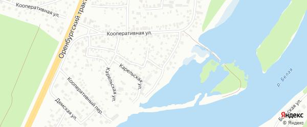 Зенитная улица на карте Уфы с номерами домов