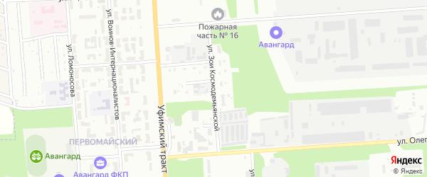 Улица Зои Космодемьянской на карте Стерлитамака с номерами домов