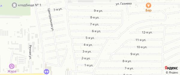 Пятая улица на карте Салавата с номерами домов