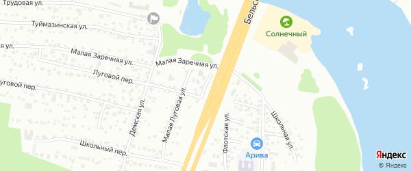 Луговая улица на карте Уфы с номерами домов