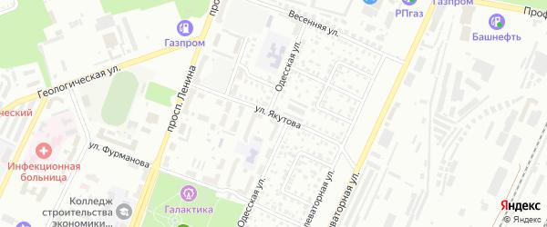 Улица Якутова на карте Стерлитамака с номерами домов