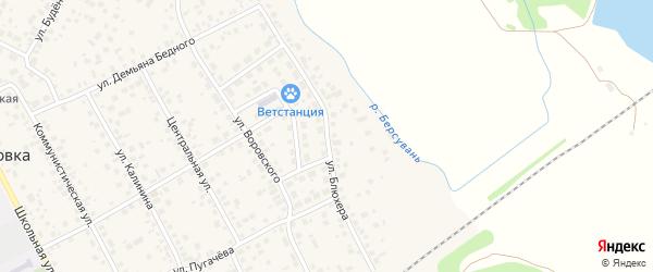 Улица Блюхера на карте села Чесноковки с номерами домов