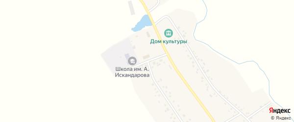 Школьная улица на карте деревни Ирсаево с номерами домов