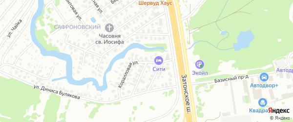 Коралловая улица на карте Уфы с номерами домов