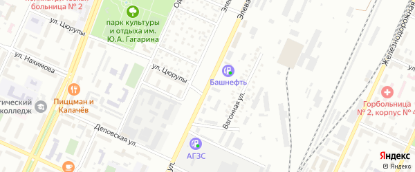 Элеваторная улица на карте Стерлитамака с номерами домов