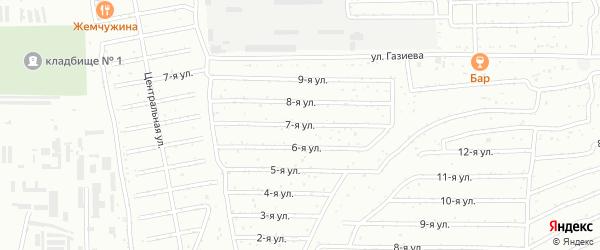 Улица 7 ноября на карте Салавата с номерами домов