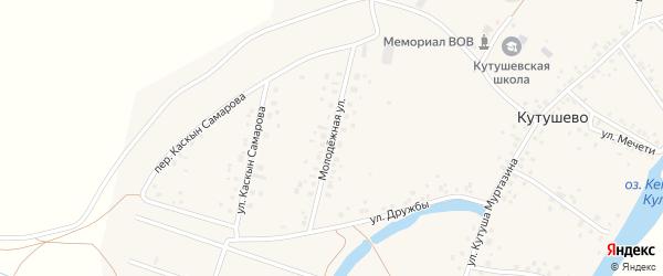 Молодежная улица на карте деревни Кутушево с номерами домов