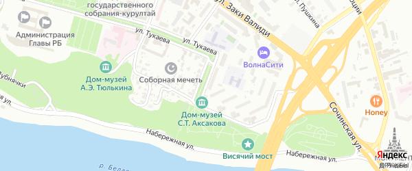 Улица Зайнуллы Расулева на карте Уфы с номерами домов