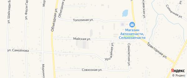 Майская улица на карте села Мишкино с номерами домов
