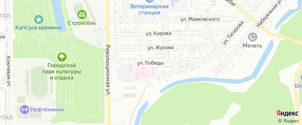 Улица Победы на карте Салавата с номерами домов