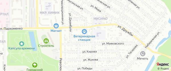 Пионерская улица на карте Салавата с номерами домов