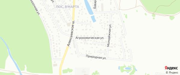 Агрономическая улица на карте поселка Некрасово с номерами домов