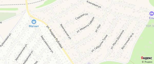 Улица М.Гафури на карте села Чесноковки с номерами домов