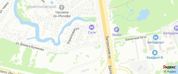 Встречный переулок на карте Уфы с номерами домов
