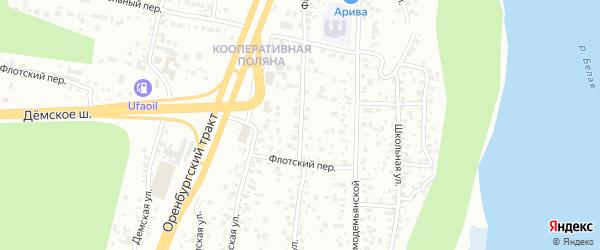 Малая Флотская улица на карте Уфы с номерами домов