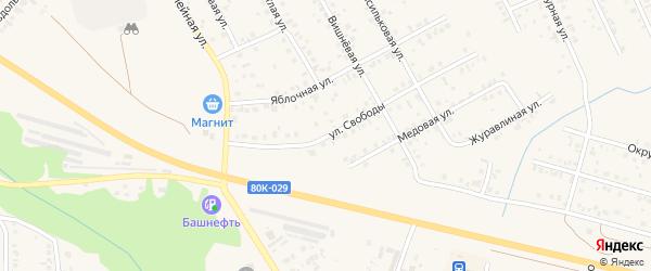 Улица Свободы на карте Благовещенска с номерами домов