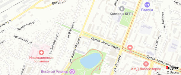 Улица Антонова на карте Уфы с номерами домов