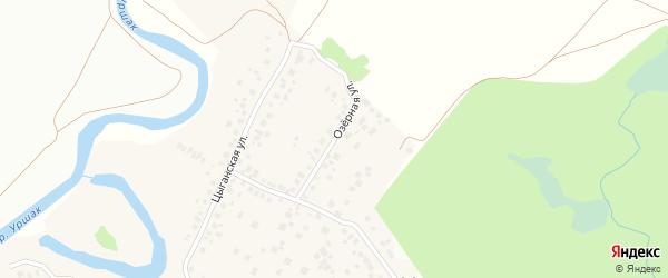 Озерная улица на карте деревни Камышлы с номерами домов
