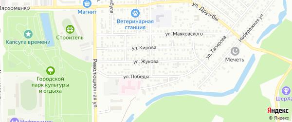 Улица Жукова на карте Салавата с номерами домов