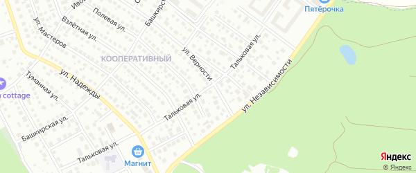 Тальковая улица на карте Уфы с номерами домов