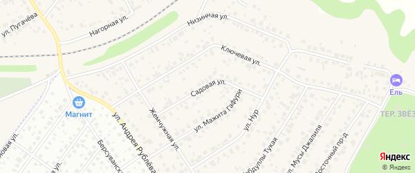 Садовая улица на карте села Чесноковки с номерами домов