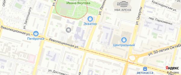 Улица Ленина на карте Уфы с номерами домов
