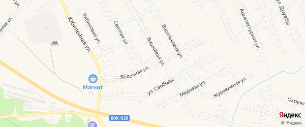 Яблочная улица на карте Благовещенска с номерами домов