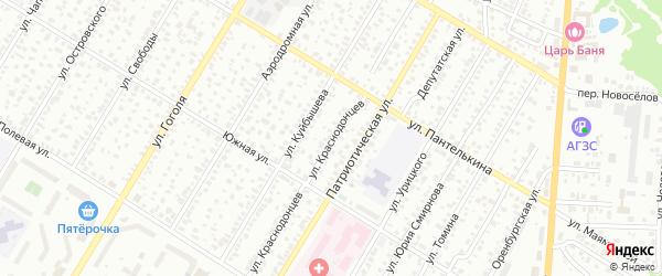 Улица Краснодонцев на карте Стерлитамака с номерами домов
