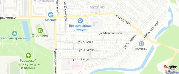 Комсомольская улица на карте Салавата с номерами домов