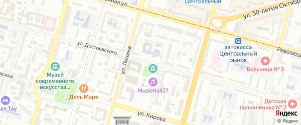 Улица Достоевского на карте Уфы с номерами домов