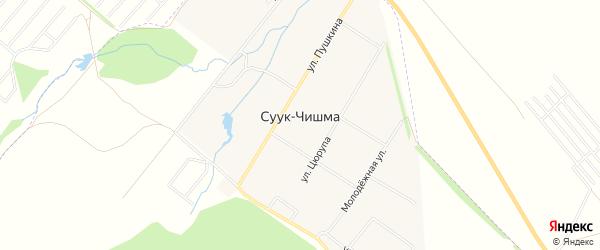 Карта села Суука-Чишма в Башкортостане с улицами и номерами домов